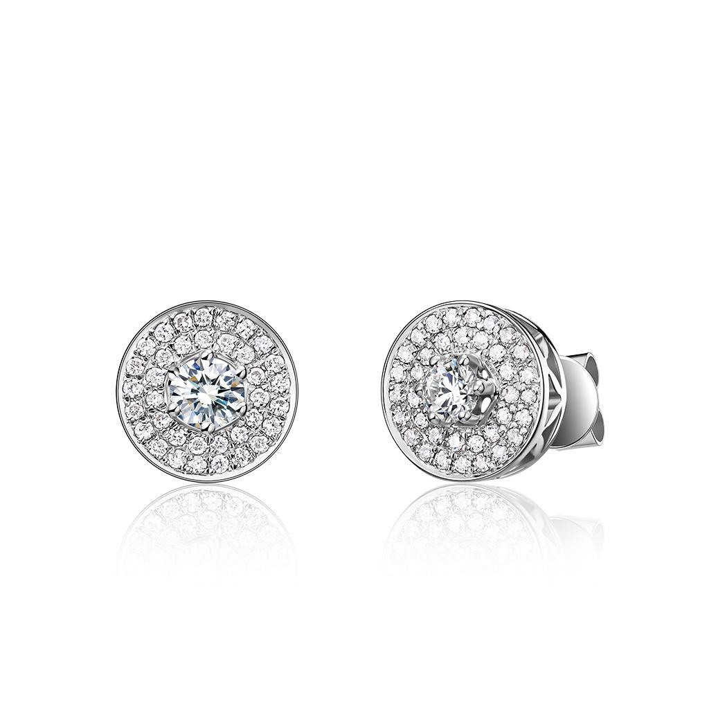 钻石耳钉《女神之光》