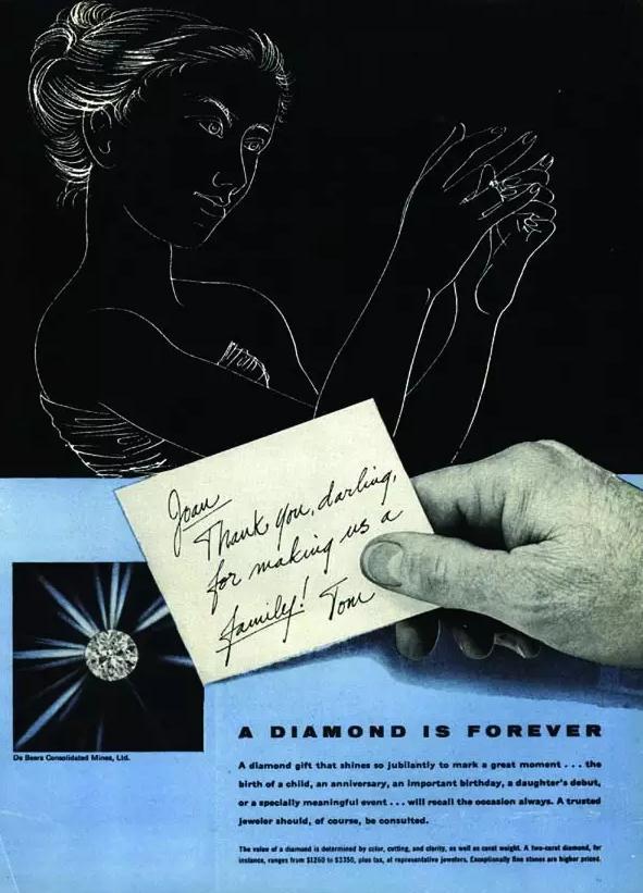 钻石恒久远,一颗永留传