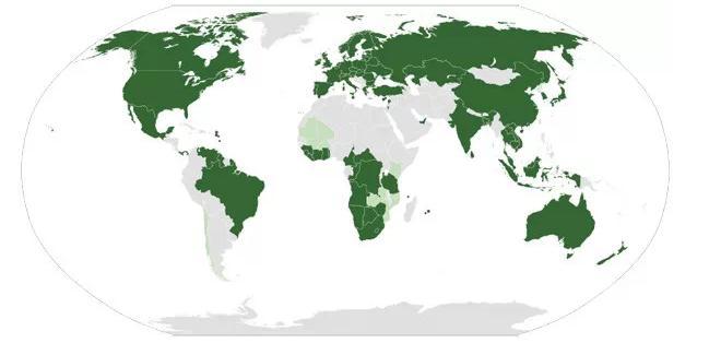 参加全球金伯利进程国家