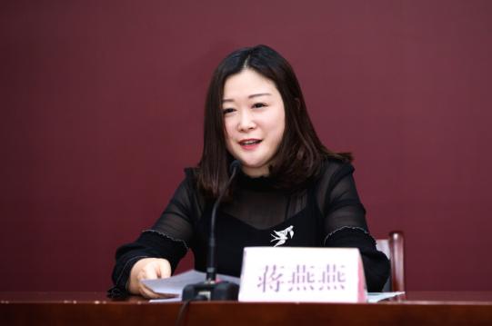 金伯利钻石集团执行总裁蒋燕燕女士发言