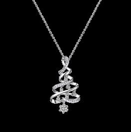 万物生长钻石项链