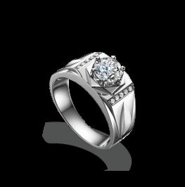 男士钻石戒指《王者》