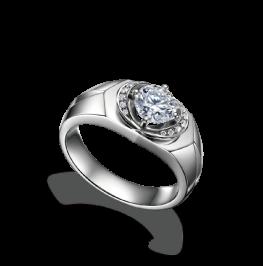 男士钻石戒指《财道》