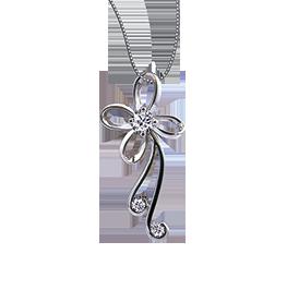 《爱的礼物》钻石项链蝴蝶兰