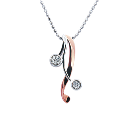 《爱的礼物》钻石项链香水百合