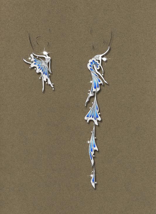 金伯利钻石《舞动自我》手绘图